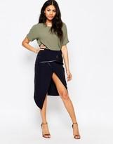 Glamorous Wrap Front Pencil Skirt
