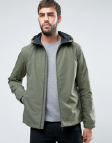 Farah Newbern Hooded Rain Jacket in Green