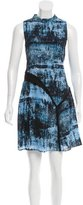 Proenza Schouler Silk Abstract Print Dress