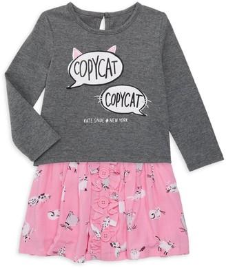 Kate Spade Baby Girl's Copy Cat 2-Piece Top & Skirt Set