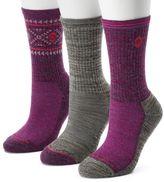 Free Country Women's 3-pk. Tribal Marled Wool-Blend Hiking Socks