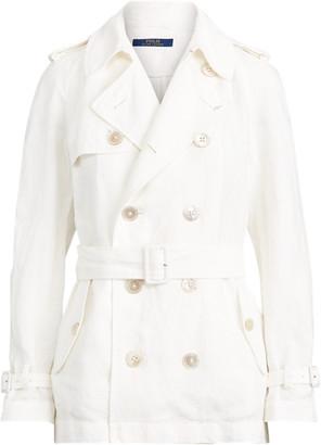 Ralph Lauren Belted Linen Trench Coat