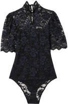 Ganni Floral-lace Bodysuit