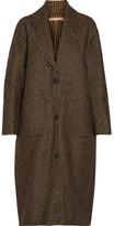 Michael Kors Oversized Houndstooth Woven Coat - Brown