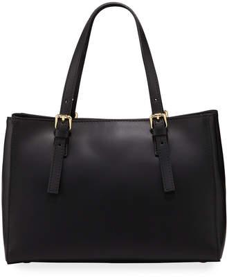 Neiman Marcus Buckled Top Handle Satchel Bag