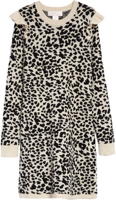 Rachel Parcell Leopard Jacquard Sweater Dress