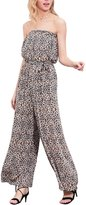 Berrygo Women's Sexy Sleeveless Off Shoulder High Waist Leopard Print Chiffon Long Jumpsuit Romper Playsuit Leopard