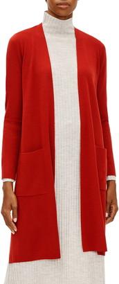 Eileen Fisher Ultrafine Merino Wool Long Cardigan