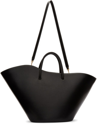 Little Liffner Black Large Two-Way Tulip Tote
