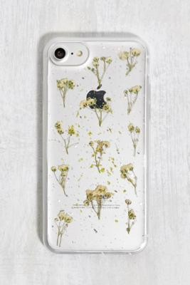 Urban Outfitters White Glitter Flower iPhone 6/7/8 Phone Case - White ALL at