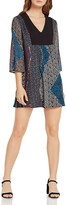 BCBGeneration Gypsy Patchwork Print Trapeze Dress
