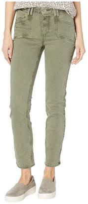 Paige Cindy Jeans w/ Set in Pockets in Vintage Emerald Moss (Vintage Emerald Moss) Women's Jeans