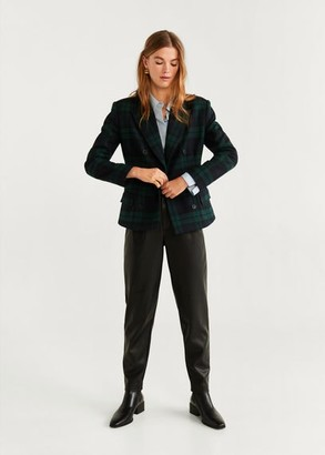 MANGO Structured wool blazer green - S - Women