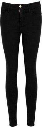 Frame Le High Skinny Black Jeans