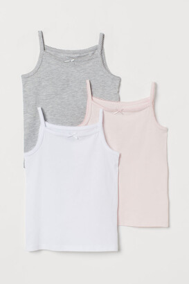 H&M 3-pack Jersey Tank Tops - White