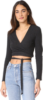 Lanston Ballet Crop Wrap Top