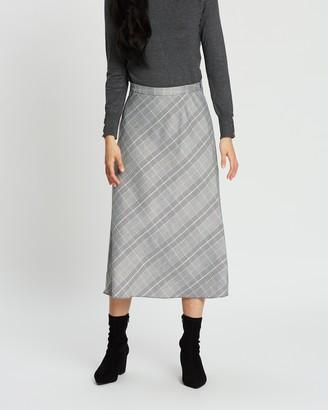 Dorothy Perkins Check Midi Skirt