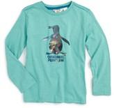 Original Penguin Boy's 'Iced Pete' Long Sleeve Slub Graphic T-Shirt
