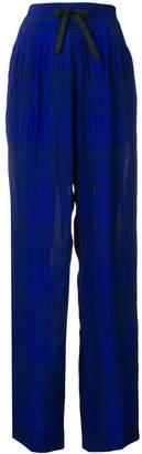 Haider Ackermann check elasticated trousers