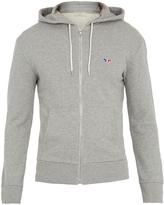 MAISON KITSUNÉ Hooded zip-through cotton sweatshirt