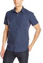 Theory Men's Zack Ps S Stono Short Sleeve Button Down Shirt