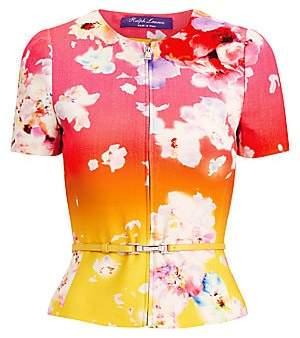 Ralph Lauren Women's Azalea Floral Ombré Short-Sleeve Jacket