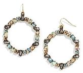 BaubleBar Bellflower Hoop Earrings