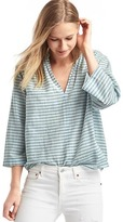 Stripe split-neck popover