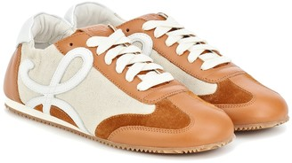 Loewe Ballet Runner nylon and leather sneakers
