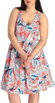 Miami Palm Print Betty Dress