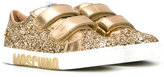 Moschino Kids - glitter embellished sneakers - kids - Leather/PVC/rubber - 28
