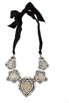 Lanvin Crystal Bib Necklace with Ribbons