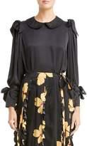 Simone Rocha Bow Sleeve Silk Blouse