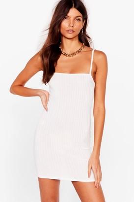 Nasty Gal Womens New Life Square Neck Bodycon Dress - White - 10