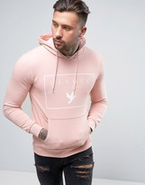 Devote Hoodie In Pink With Logo