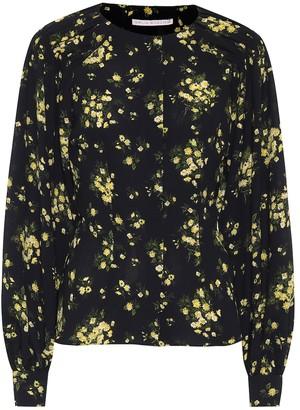 Emilia Wickstead Margot floral stretch-crApe blouse
