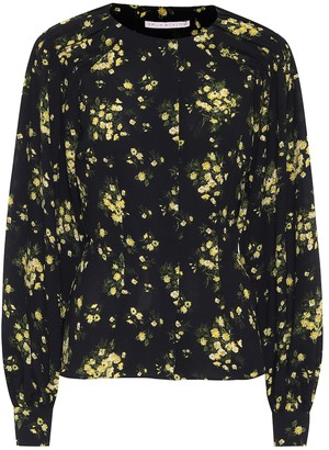 Emilia Wickstead Margot floral stretch-crepe blouse
