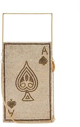Rosantica Poker Caged Crystal-embellished Bag - Black Multi