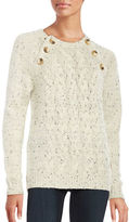 Vero Moda Emma Embellished Cable-Knit Sweater