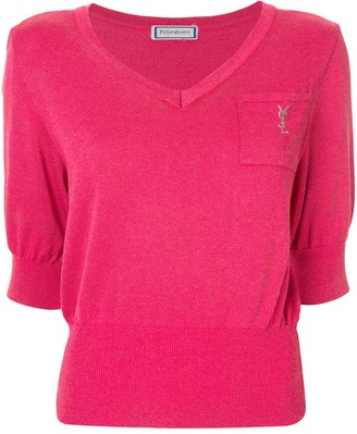 Yves Saint Laurent Pre Owned Short Sleeve Top