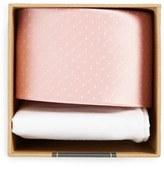 The Tie Bar Men's Dot Silk Tie & Cotton Pocket Square Style Box