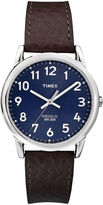 Timex Easy Reader Mens Brown Leather Strap Watch T2P3197R