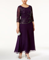 J Kara Plus Size Embellished Gown
