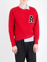 Ami Alexandre Mattiussi Appliqué letter wool sweatshirt