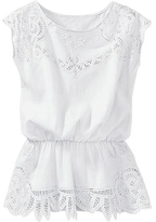 Battenberg lace blouse