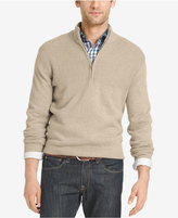 Izod Men's Dual-Texture Quarter-Zip Sweater