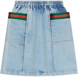 Gucci Children's denim skirt with Web