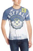Buffalo David Bitton Men's Nikons Short Sleeve Crew Neck Fashion Tee Shirt