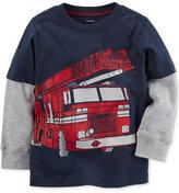 Carter's Firetruck Graphic-Print Cotton Shirt, Toddler Boys (2T-4T)