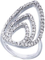 INC International Concepts I.N.C. Silver-Tone Crystal Triple-Teardrop Ring, Created for Macy's
